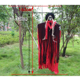 Halloween Party Decorations Horror Layout Crawling Ghosts Voice Control Toy Electric Eye Glow Crawling Ghost Haunted House Prop