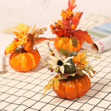 Autumn Fall Decorations Artificial Pumpkins Props For Home Kitchen Wedding Decor Halloween Thanksgiving Pumpkin Ornament