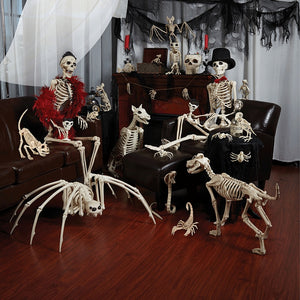 New Skeleton Dragon Dog Animal 100% Plastic Animal Skeleton Bones Horror Halloween Prop Animal Horror House Party Decoration