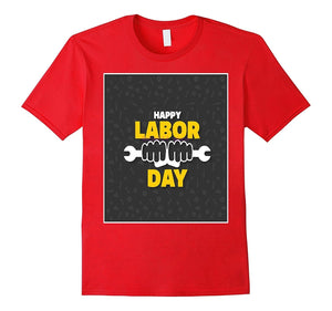 brand men shirt Happy Labor Day Wrench T-Shirt For Workers-BN