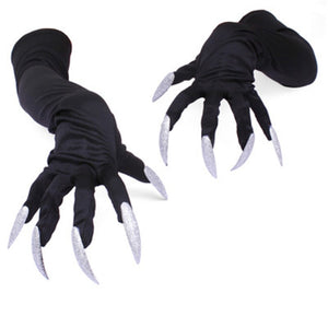 Halloween  Nails Claw Cosplay Long Fingernail Glove Costume Accessory Terrorist Props Halloween Costume Terrorist  DIY Decor