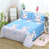 3 Pcs Bed Set 1 Pc Bed Sheet + 2 Pillowcase Queen King Twin Size Cotton/Polyester Flat Sheet Bed Linen Fitted Sheet Bedsheets