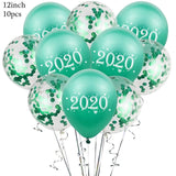 Rose Gold Christmas & Happy New Year Balloons 12 in Party Supplies