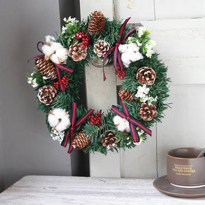 Merry Christmas Wreath Door Ornament Christmas Decorations for Home Decor Natale 2019 Happy New Year 2020 DIY Kerstdecoratie