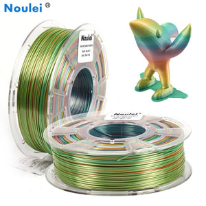 PLA Filament Silky Shiny Rainbow Multicolor Splendid 3D Printing Filament 1.75mm 1KG
