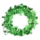 ZLJQ Gold Green Red Star Garland Tinsel Stars Brace Tinsel Wire Garland Christmas Tree Decoration Wreath Wedding Party Accessory