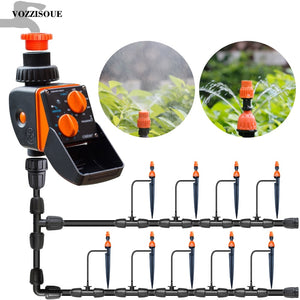 Garden Watering Timer Ball Valve Automatic Electronic Watering Kits Home Garden Micro Drip Irrigation Timer Controller System