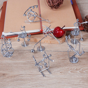 Pendulum Desk Toy Metal Decor Home Decoration Accessories Cradle New Balance Men Iron Man Ball Crafts Tumbler