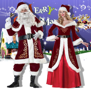 New Year Christmas Costume Dance Party Apparel 8 Pcs/Adult Man Woman