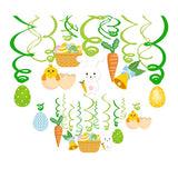Happy Easter Hanging Swirl Party Decorations Cute Rabbits PVC Wall Ceiling Hanging Spiral Easter Party Supplies