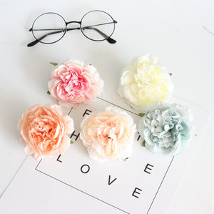 2PCS 8cm Silk Peony Head scrapbooking wedding bridal accessories diy christmas decorations for home artificial flowers wall ZM