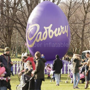 Outdoor Decoration 6m Giant Purple Inflatable Easter Egg For Big Events
