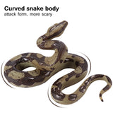 PVC Snake Toy High Simulation Python Model Toy Big Realistic Snake Halloween Tricky Creepy Prank Scary Snake Toy Party Supplies