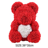 40cm Teddy Bear Flower Wedding Decoration foam bear birthday with Love Heart Rose Bear Crafts Valentines Day Gift for Girls