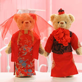 2 pc Teddy Bear Wedding Dress Christmas Valentine Gifts