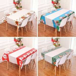 New Christmas decorations tablecloth christmas table decorations  new year decorations