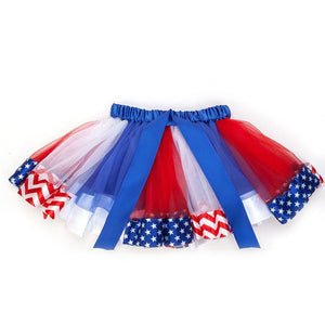 Girls Tutu Skirt Cute Tulle Skirt Short Skirt Dancing Skirt For Independence Day Party Clothing Decoration Accessories