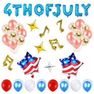 4th of July Balloons Set American Flag Patriotic Balloon Set Party Favors Supplies Decoration for National Independence Day
