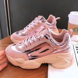 NEW Women Chunky Sneakers Platform Shoes Woman Casual Footwear Female Pink Sneaker Dad Shoes trainers basket femme YYJ71