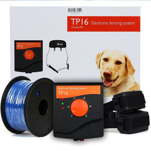 TP16 Pet Dog Electric Fence System Rechargeable Waterproof Shock Adjustable Dog Training Collar Electronic Pet Fencing System filament