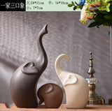 Simple Modern Ceramic Figurines Livingroom Ornament Home Furnishing Decoration Crafts Office Coffee Accessories Wedding Gift