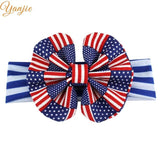 4th Of July Headband For Girls American Flag Striped Hair Band Kids Patriotic Bow Headbands Independence Day Hair Accessories