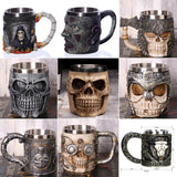 1Pcs Creative Skull Mug 450ml /15oz