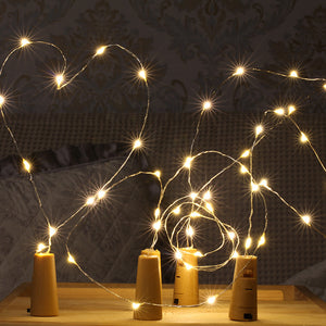 YIYANG 2M LED Garland Copper Wire Corker String Fairy Lights Glass Craft Bottle New Year Christmas Valentines Wedding Decoration