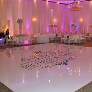 Wedding Dance Floor Decal, Wedding Floor Monogram Vinyl Floor Sticker, Party Decor Custom Name & Date DIY Deco WD17