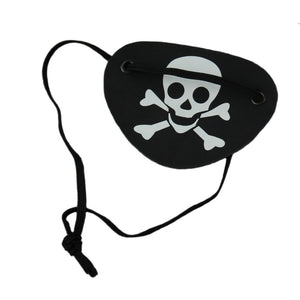 6pcs Pirate Eye Patch Halloween Black Pirate Accessory Eye Patch Single Eye Patch Eye Patch with Flexible Rope Kids adult Toy