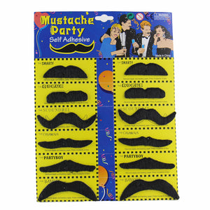 12Pcs Halloween Cosplay costume Moustache Fake Beard