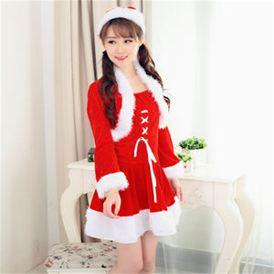 Adult female Santa Claus Christmas apparel Christmas clothing Christmas performance clothing women's dress sweet Christmas