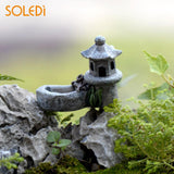 Pond Tower Figurines Lifelike Crafts Garden Miniature Beautiful Decor Micro Landscape Toys