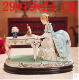 Europe ceramic girls lady statue home decoration accessories craft room decoration vintage girl ornament porcelain figurine gift
