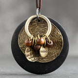 Round Necklace Women Jewelry Sweater Chain Bohemian Necklace Clothes Accessories Wood Necklace Collier Femme 6*7cm