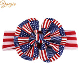Funky American July 4th Independence Day Striped Flag Elastic Headband Chic Kids DIY Hair Accessories Patriotic 2019 Souvenir