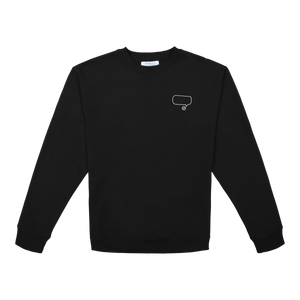 Comment Bubble Crewneck - Black