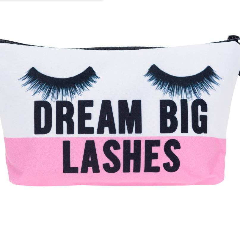 Dream Big Lashes Cosmetic Bag-Dream Big Lashes Cosmetic Bag-Lash Tribe