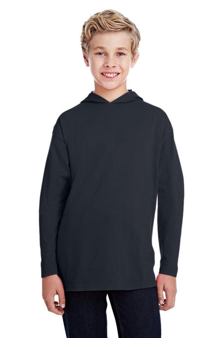 PCA Step Up and GLOW Youth Long Sleeve Hooded T-Shirt