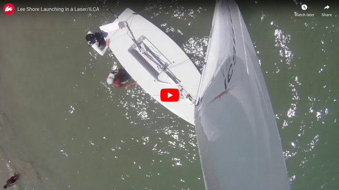 Launching a Laser/ILCA on a Lee Shore