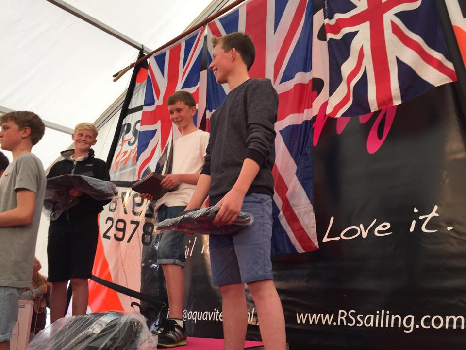 On the Podium with Henry Jameson (left) and Harrison Pye, World Champion (right)