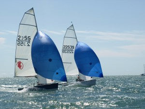 Zooming to the finish at Thorney Island
