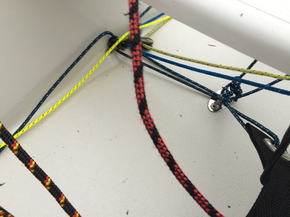 2000 Crew Toestraps adjustment is done by the stopper knot