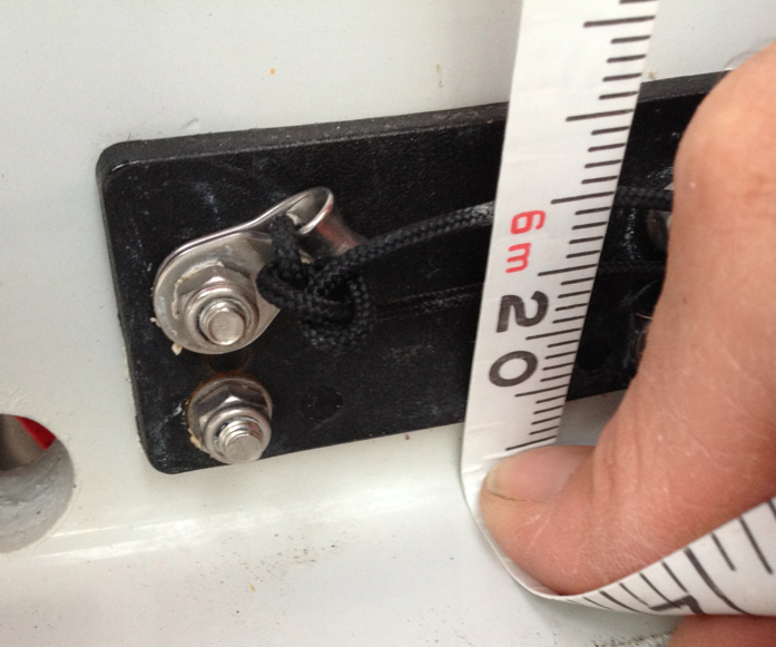 Measured to the inside Corner of the transom (Beer Boat)