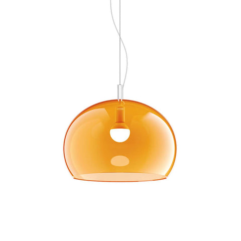 Guzzini Zurigo 1966 Small Pendant Lamp In Transparent Orange - ID 8545