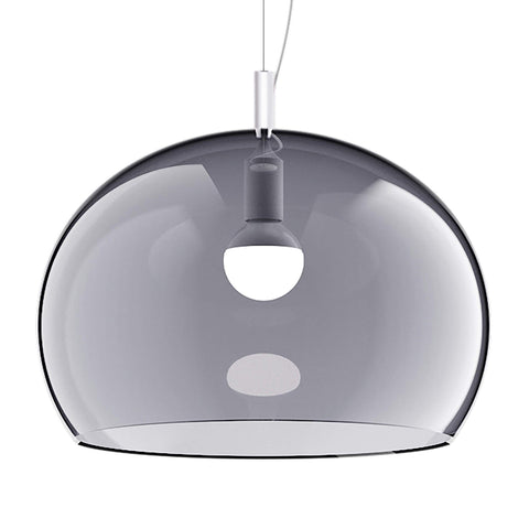 Guzzini Zurigo 1966 Large Pendant Lamp In Transparent Smoked - ID 8552