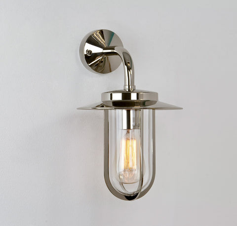 Montparnasse Polished Nickel Outdoor Wall Light - London Lighting - 1
