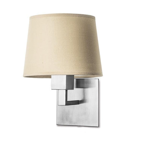 Bromley Contemporary Wall Light In Satin Nickel - ID 7882