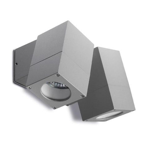 Carpenders Grey Exterior Double Wall Spotlight - ID 253