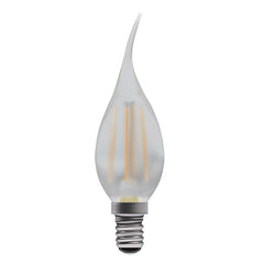 Opal French Flame Candle Lamp Warm White 4W LED E14 - ID 9781
